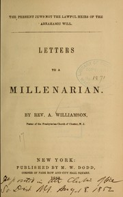 Cover of: Letters to a millenarian | A. Williamson