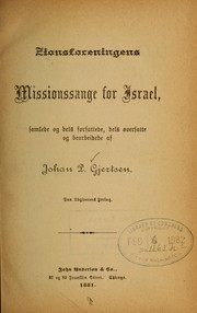 Cover of: Zionsforeningens missionssange for Israel