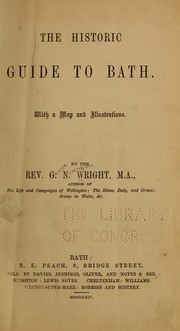 Cover of: The historic guide to Bath
