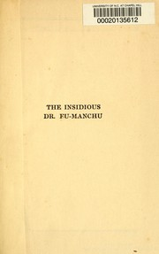 Cover of: The insidious Dr. Fu-Manchu
