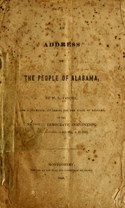 Cover of: An address to the people of Alabama