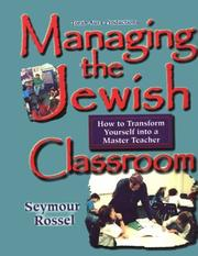 Cover of: Managing the Jewish classroom