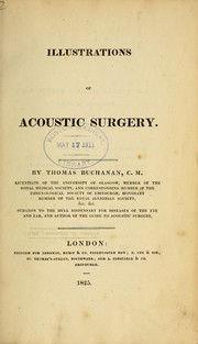 Cover of: Illustrations of acoustic surgery. | Thomas Buchanan