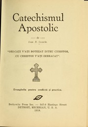 Cover of: Catechismul apostolic