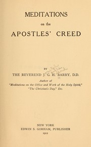 Cover of: Meditations on the Apostles' creed