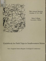 Cover of: Guidebook for field trips in southwestern Maine