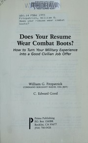 Cover of: Does your resume wear combat boots?