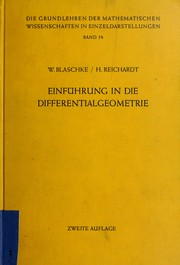 Cover of: Einführung in die Differentialgeometrie