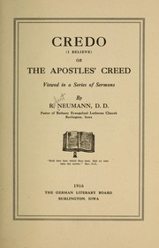 Cover of: Credo (I believe)