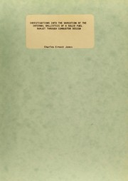 Cover of: Investigations into the variation of the internal ballistics of a solid fuel ramjet through combustor design | Charles Ernest Jones