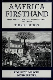 Cover of: America firsthand