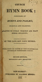 Cover of: Church hymn book...