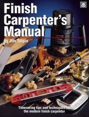 Cover of: Finish carpenter's manual