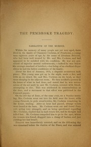 Cover of: Report of the Trial of Abraham Prescott, for the murder of Mrs. Sally Cochran of Pembroke, June 23, 1833