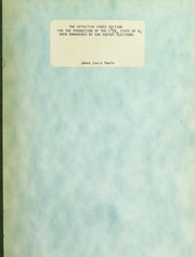 Cover of: The effective cross section for the production of the C[Superscript 3] state of N[Subscript 2] when bombarded by low energy electrons