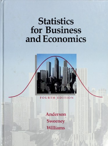 Statistics for business and economics (1990 edition) | Open