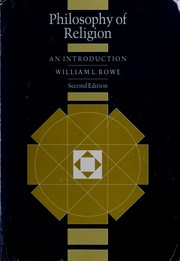 Cover of: Philosophy of religion | William L. Rowe