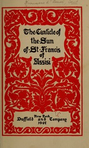Cover of: The canticle of the sun of St. Francis of Assisi