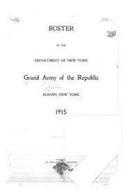 Cover of: Roster of the Department of New York, Grand Army of the Republic