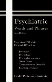 Cover of: Psychiatric words and phrases