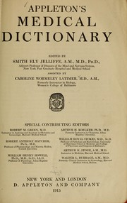 Cover of: Appleton's medical dictionary