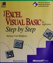 Cover of: Microsoft Excel Visual Basic for applications step by step