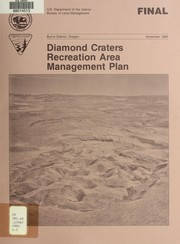 Cover of: Recreation area management final plan for the Diamond Craters outstanding natural area, Oregon
