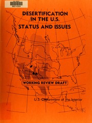 Cover of: Desertification in the United States