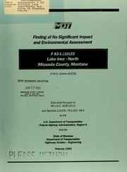 Cover of: Environmental assessment, F 83-1(10)23, Lake Inez-North, 8.4 miles in Missoula County | United States. Federal Highway Administration. Region 8.