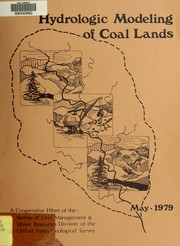 Cover of: Hydrologic modeling of coal lands