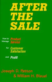 Cover of: After the sale