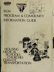 Cover of: BLM program & community information guide