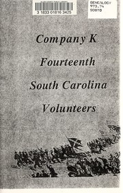 Cover of: Company K, fourteenth South Carolina volunteers