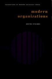 Cover of: Modern organizations