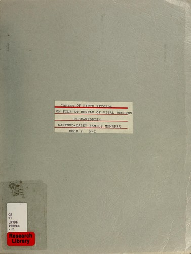 Copies of birth records on file at Bureau of Vital Records by