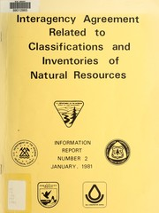 Cover of: Interagency agreement related to classifications and inventories of natural resources