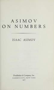Cover of: Asimov on numbers