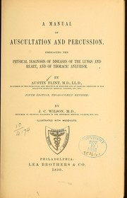 Cover of: A manual of auscultation and percussion