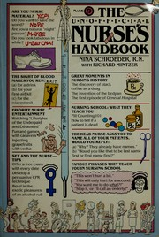 Cover of: The unofficial nurse's handbook by Nina Schroeder