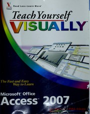 Cover of: Teach yourself visually Access 2007 | Faithe Wempen