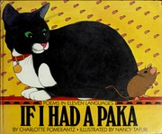 Cover of: If I had a paka | Charlotte Pomerantz