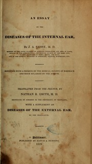 Cover of: An essay on the diseases of the internal ear