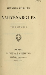 Cover of: Oeuvres morales