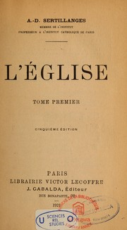 Cover of: L'Eglise