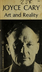 Cover of: Art and reality: ways of the creative process.