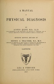 Cover of: A manual of physical diagnosis
