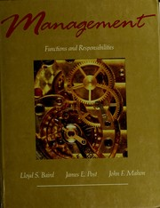 Cover of: Management | Lloyd S. Baird