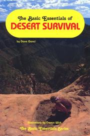 Cover of: The basic essentials of desert survival
