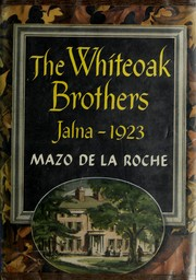 Cover of: The Whiteoak brothers