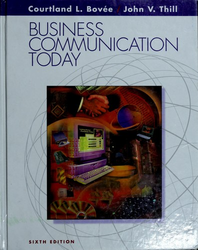 Business Communication Book Cover ~ Business communication today edition open library